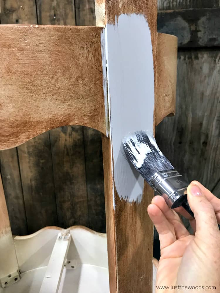 apply gray primer with brush