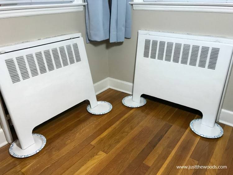white paint on metal, white paint on radiator covers