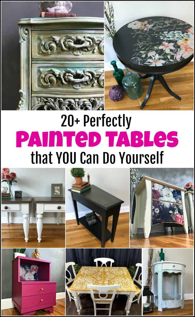 20+ Perfectly Painted Tables that You Can Do Yourself