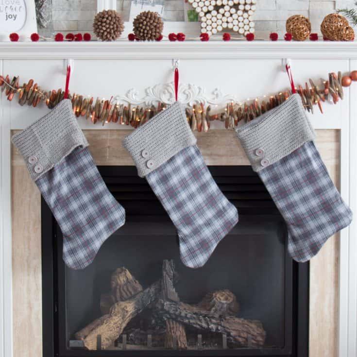 Christmas Stocking Pattern: Upcycled Sweater Stockings