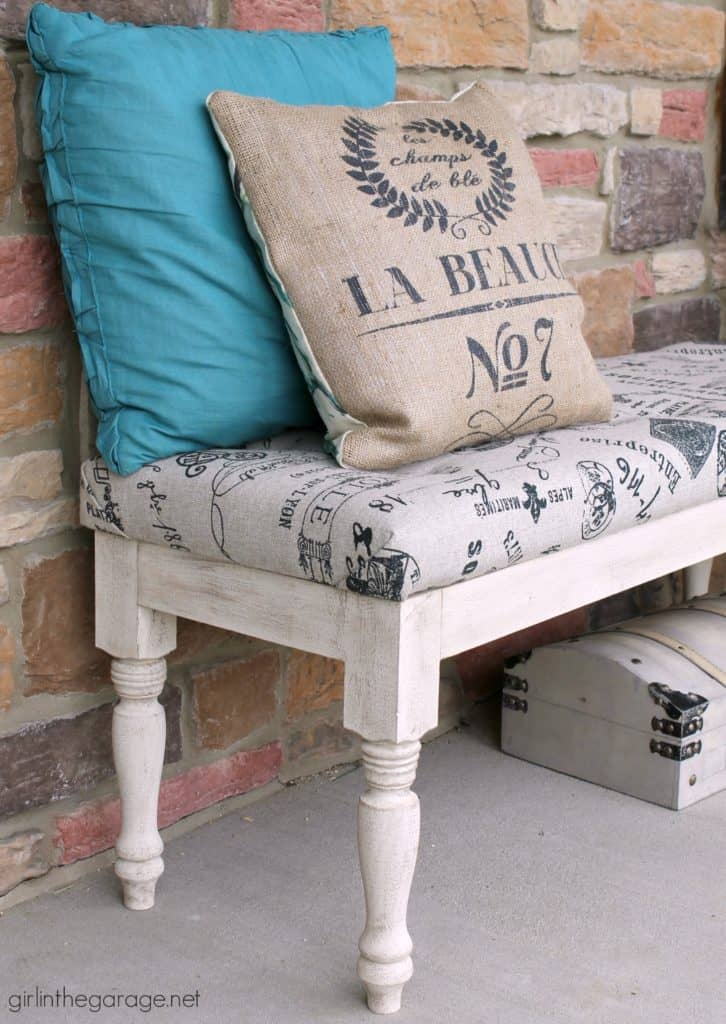 Tufted Upholstered Bench Makeover