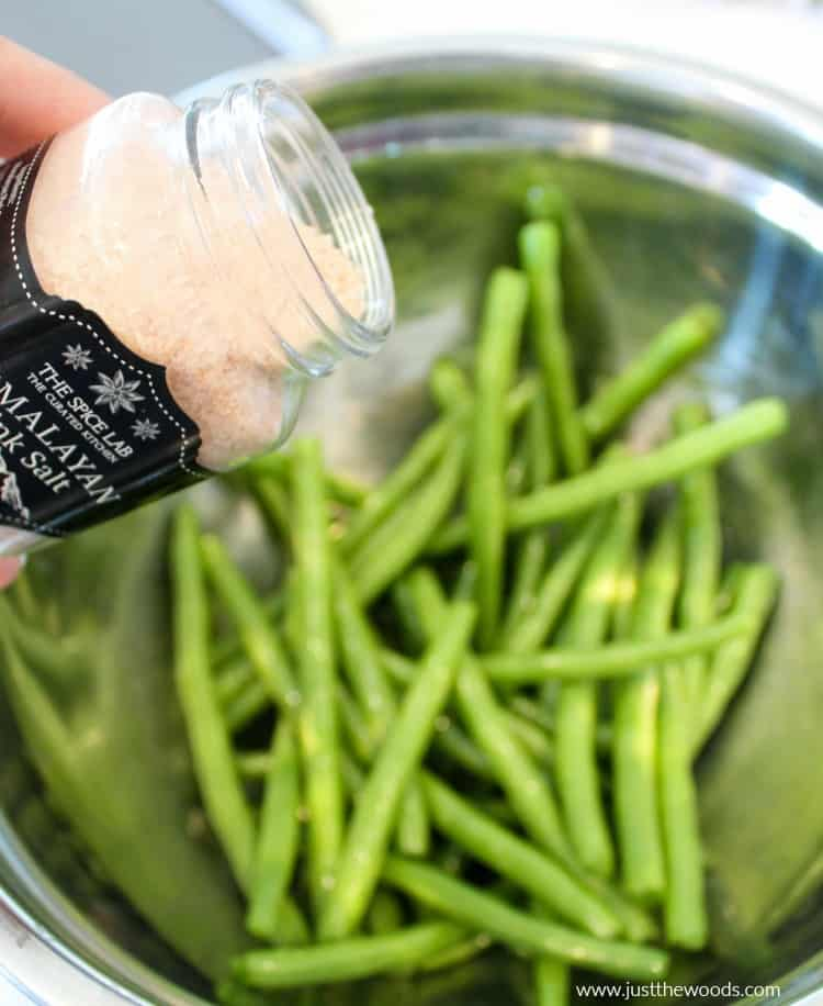 salt and pepper to taste, season green bean fries