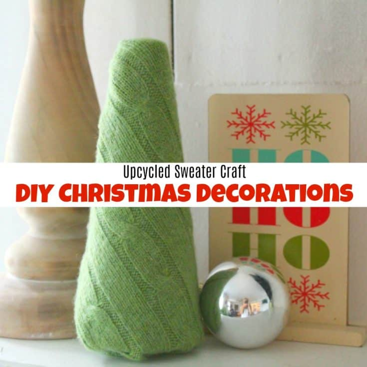Upcycled Sweater Craft - How to Make Easy DIY Christmas Decorations