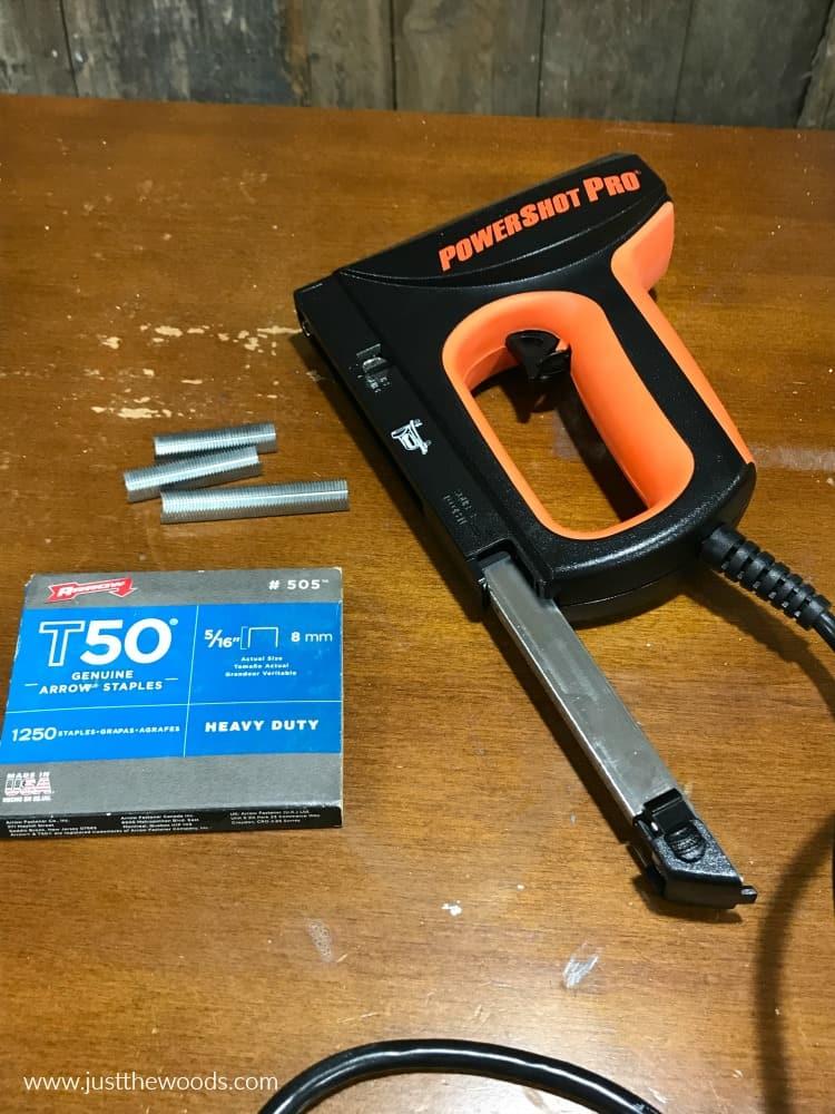 diy reupholstery tools, electric stapler