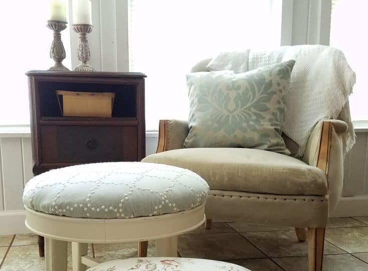 Footstool Upholstery ~ It really is that easy