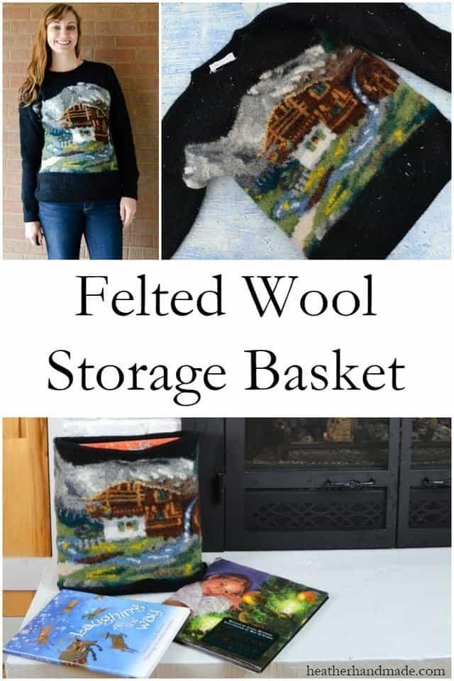 DIY Felted Wool Storage Basket