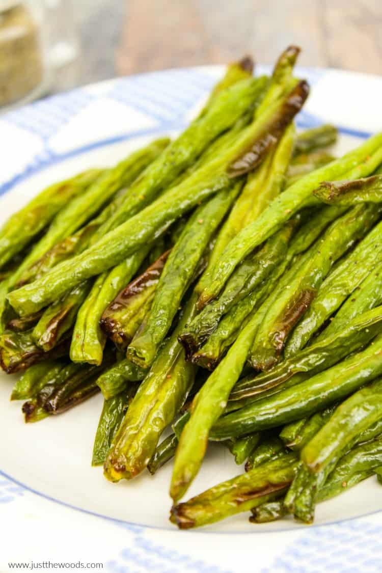 crispy green beans, air fryer green beans, clean eating