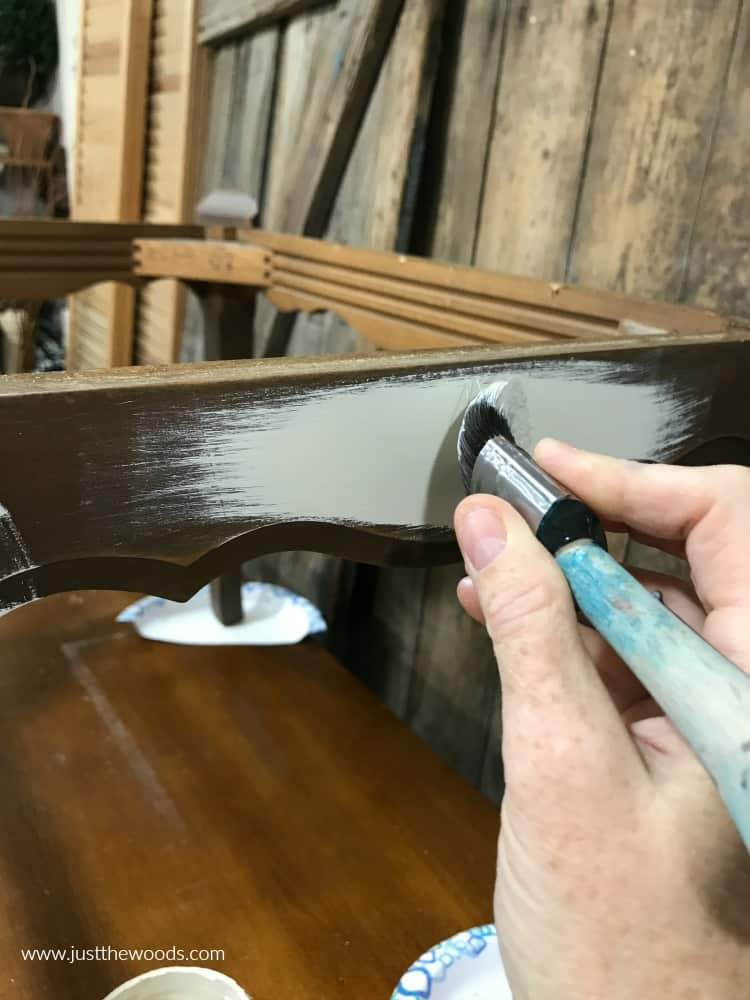 painting white chalk paint on furniture
