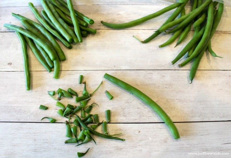 trim ends of green beans, healthy green bean recipe