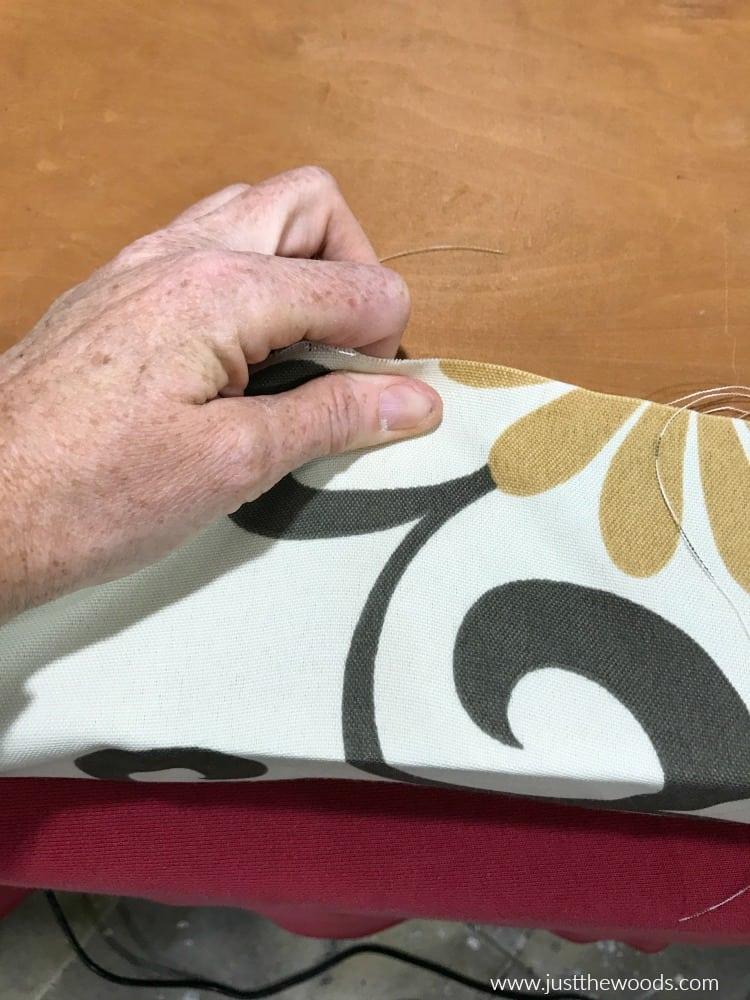 wrap fabric around cushion