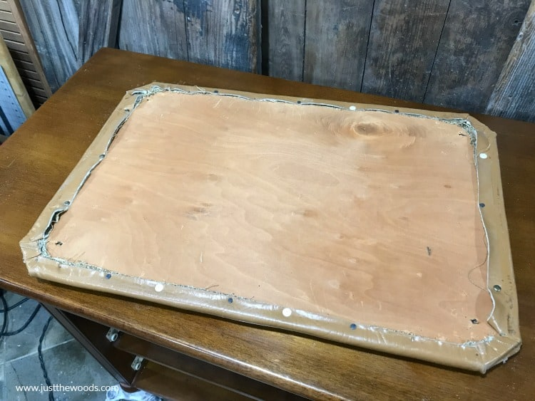 remove old leather from vanity bench, diy reupholstery