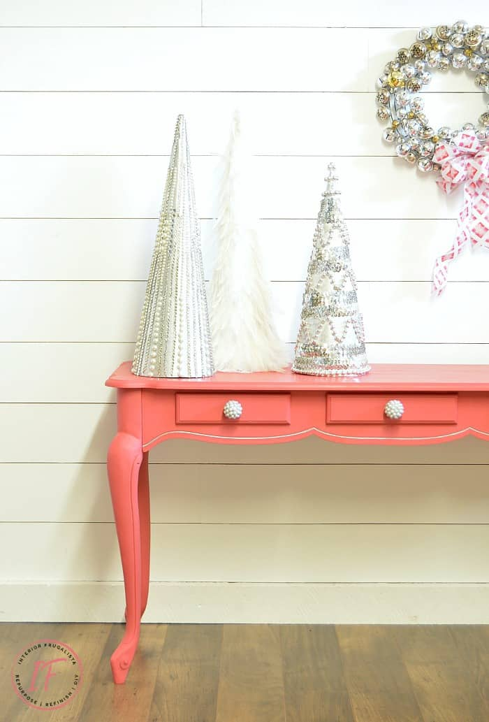 Curvy Blushing Bombshell Sofa Table Makeover