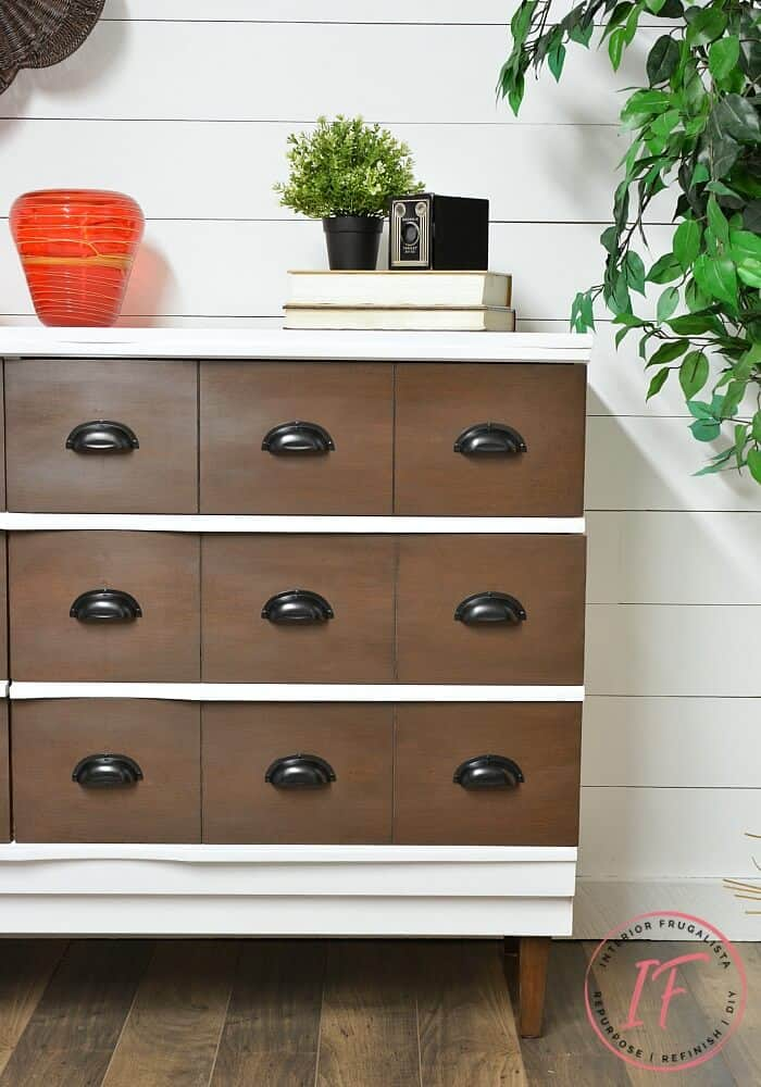 Furniture Makeover Using Chalk Paint and Stain