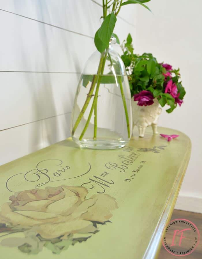 Pedestal Table Makeover with Chalk Paint