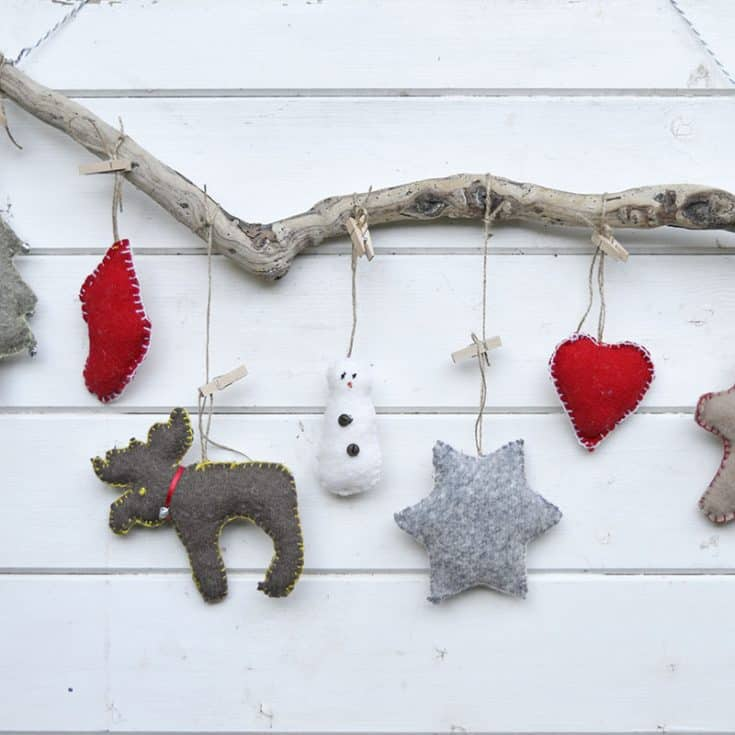 Cute Sweater Upcycled Christmas Ornaments