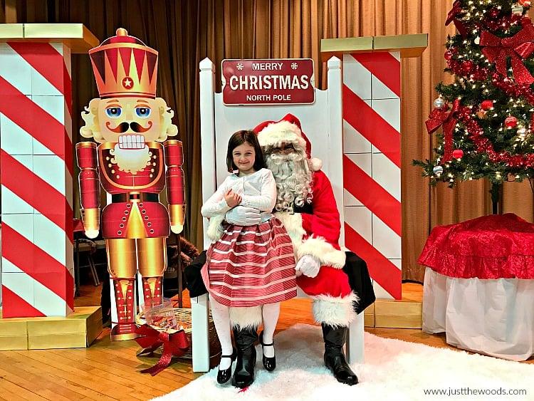 girl in dress on santas lap, santa chair makeover