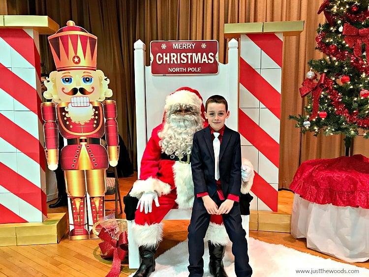 boy on santas lap, photos with santa