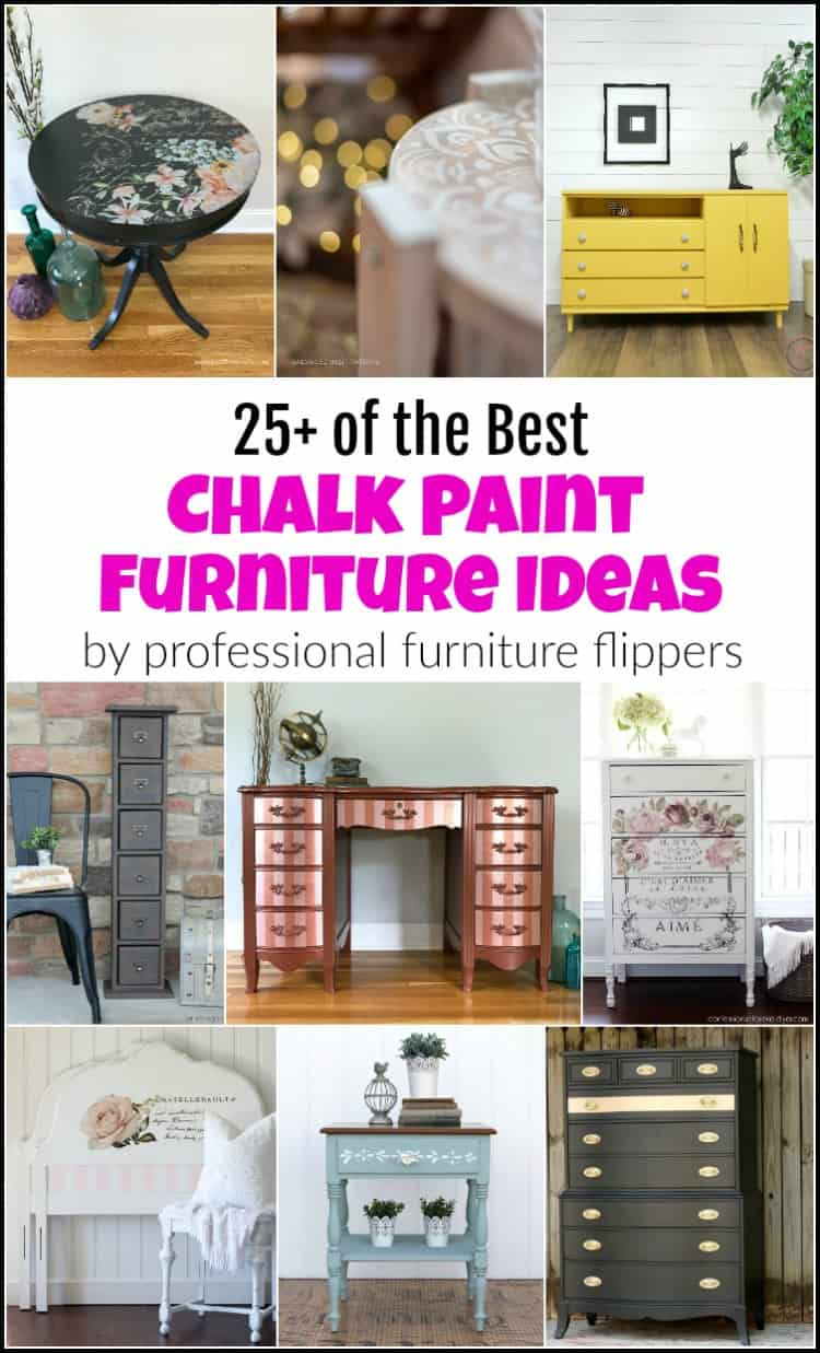 These are some of the best and beautiful chalk paint furniture ideas from amazingly talented DIY bloggers who specialize in painted furniture makeovers.