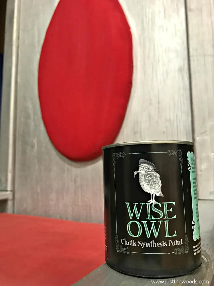 wise owl chalk paint, chalk paint to paint fabric, red fabric paint