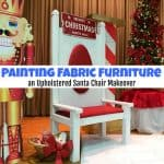Painting Fabric Furniture – an Upholstered Chair Makeover