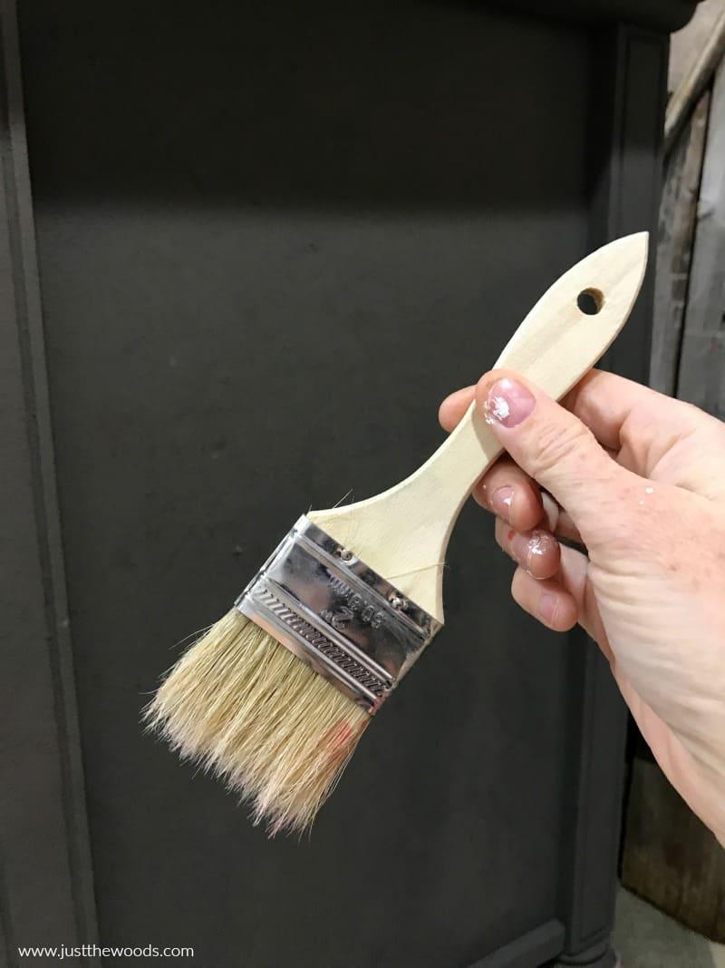 chip brush, chalk paint brush,