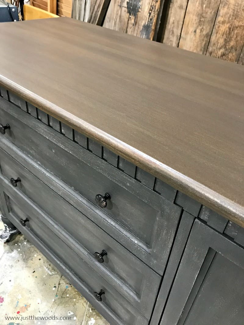 new hardware on painted furniture