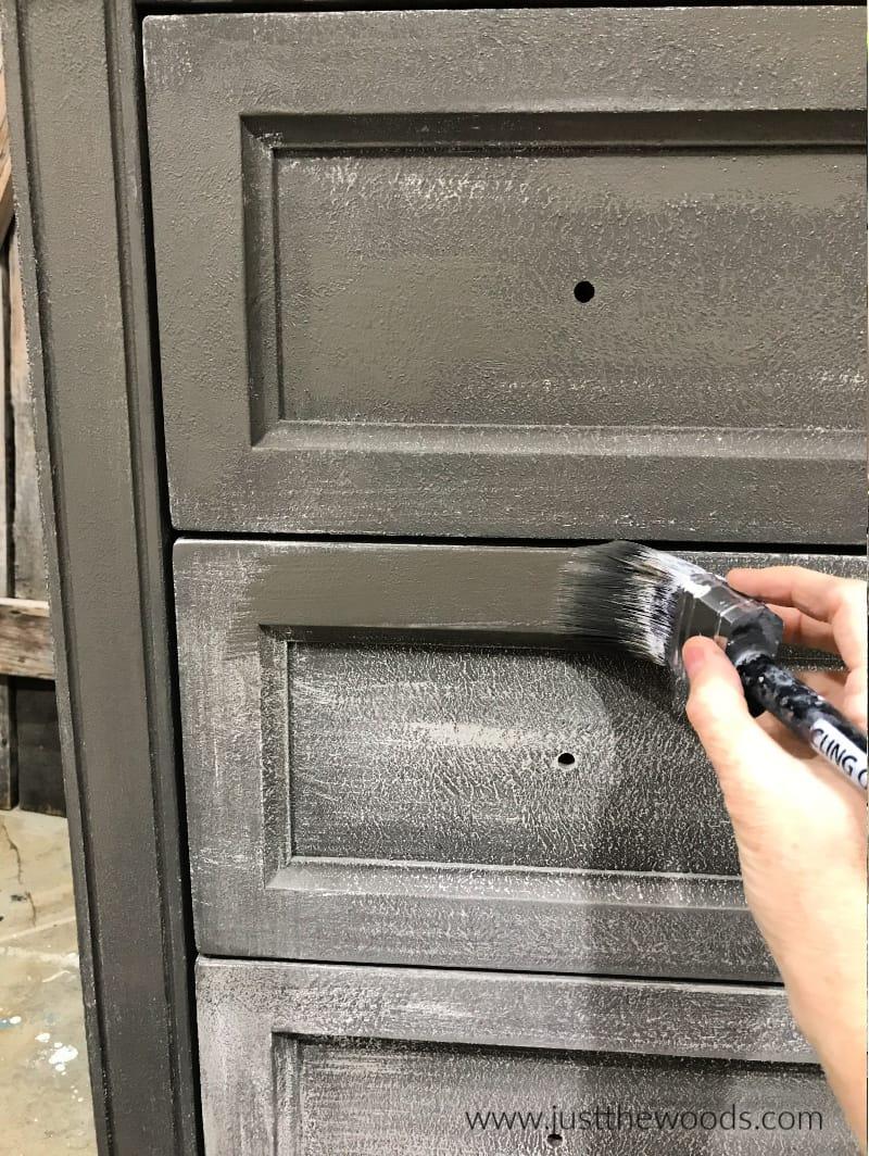 paint dark over light chalk paint, painting wood dresser, diy painted dresser