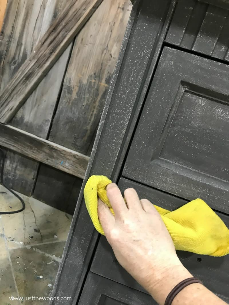 wipe dust off painted furniture with lint free cloth