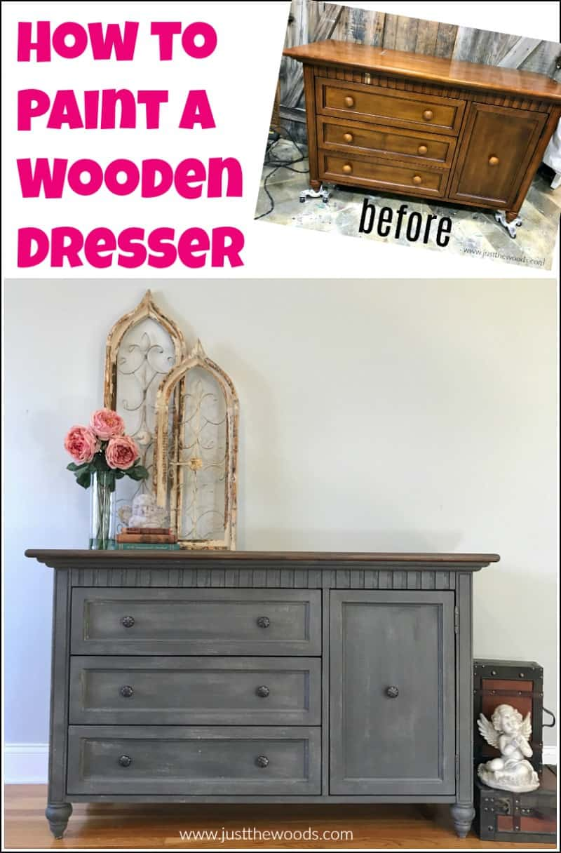how to paint a dresser before and after