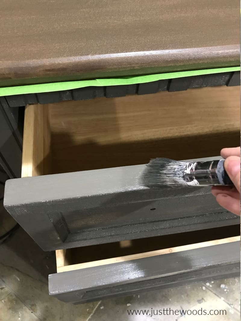 how to paint a dresser, painted dresser makeover