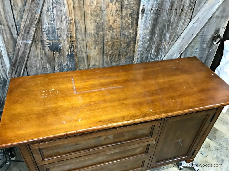 how to paint a wood dresser, unfinished dresser