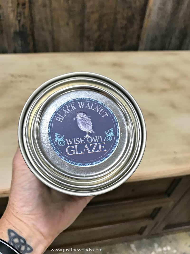wise owl glaze, black walnut glaze, black walnut wood stain