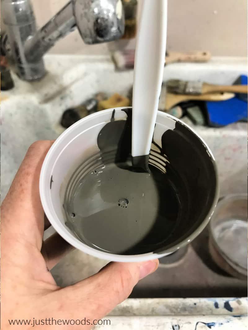 watering down chalk paint, paint wash