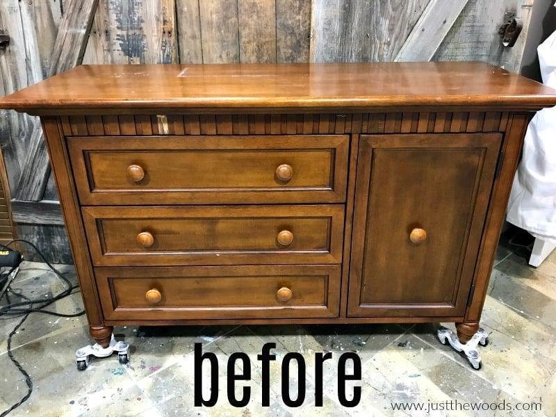 unpainted wood dresser