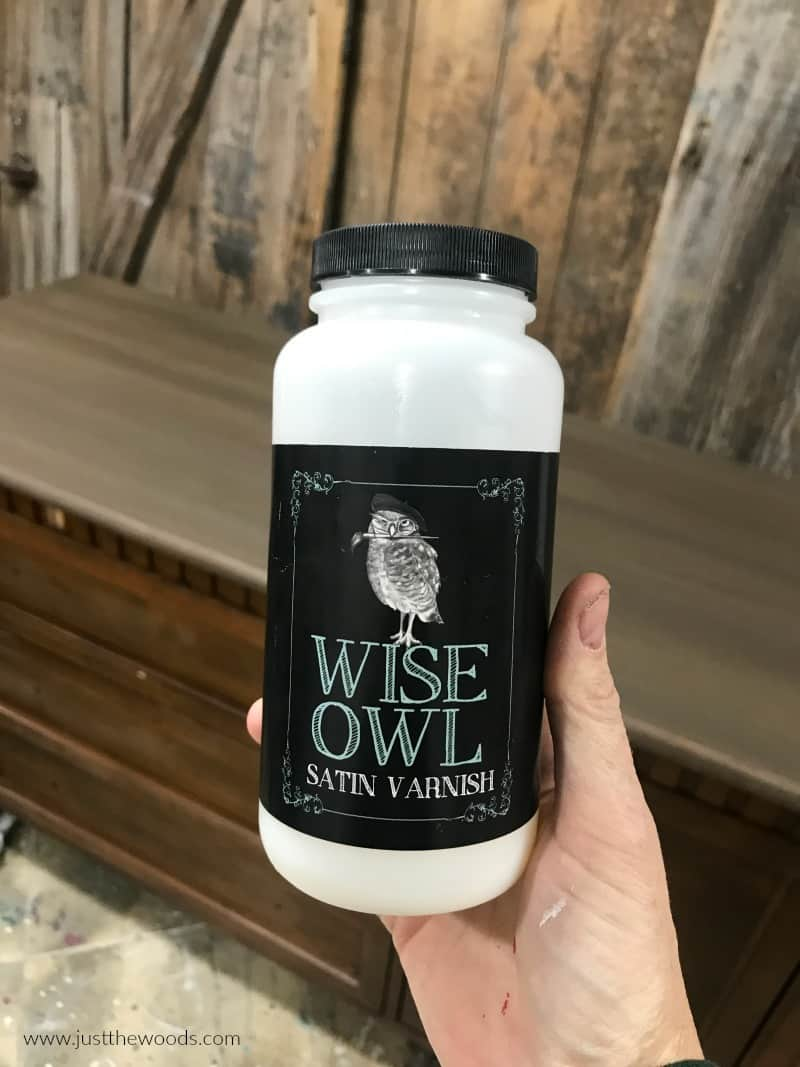 wise owl varnish, protective topcoat