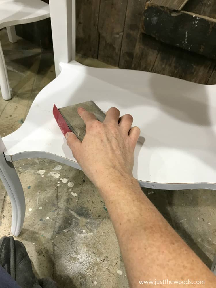 how to distress furniture, distress white furniture