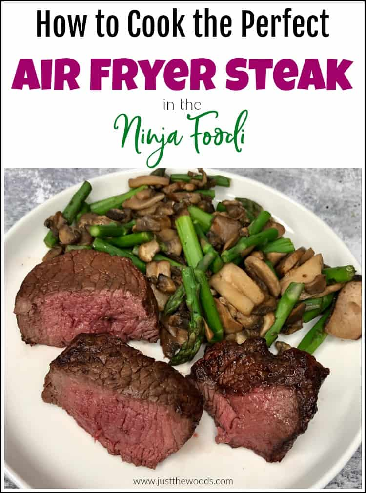 how to cook air fryer steak in the Ninja Foodi