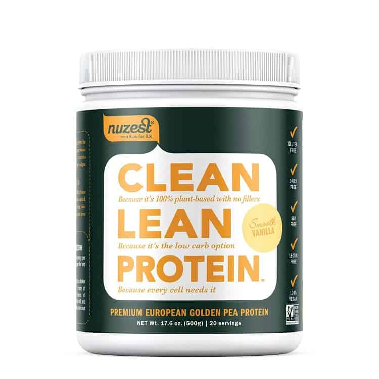 Nuzest protein powder, clean eating protein, plant based protein, clean protein