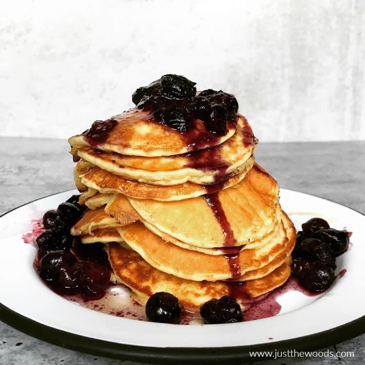 protein pancakes with fresh fruit