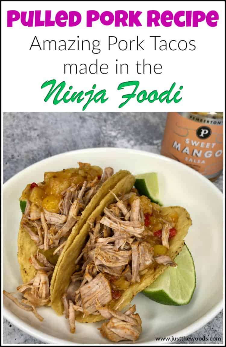 pulled pork recipe for tacos, Ninja Foodi pulled pork recipes