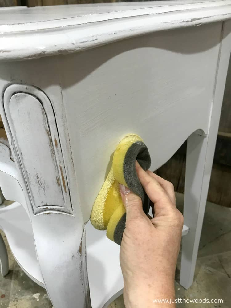 sealing white painted distressed furniture