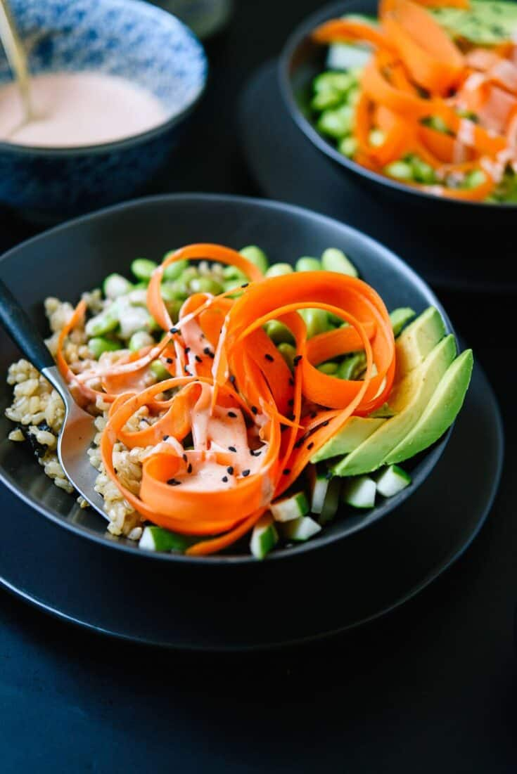 Vegetarian Sushi Bowls Recipe