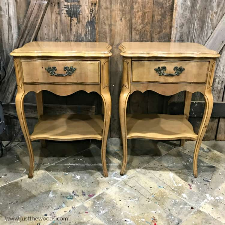 brown wood matching tables