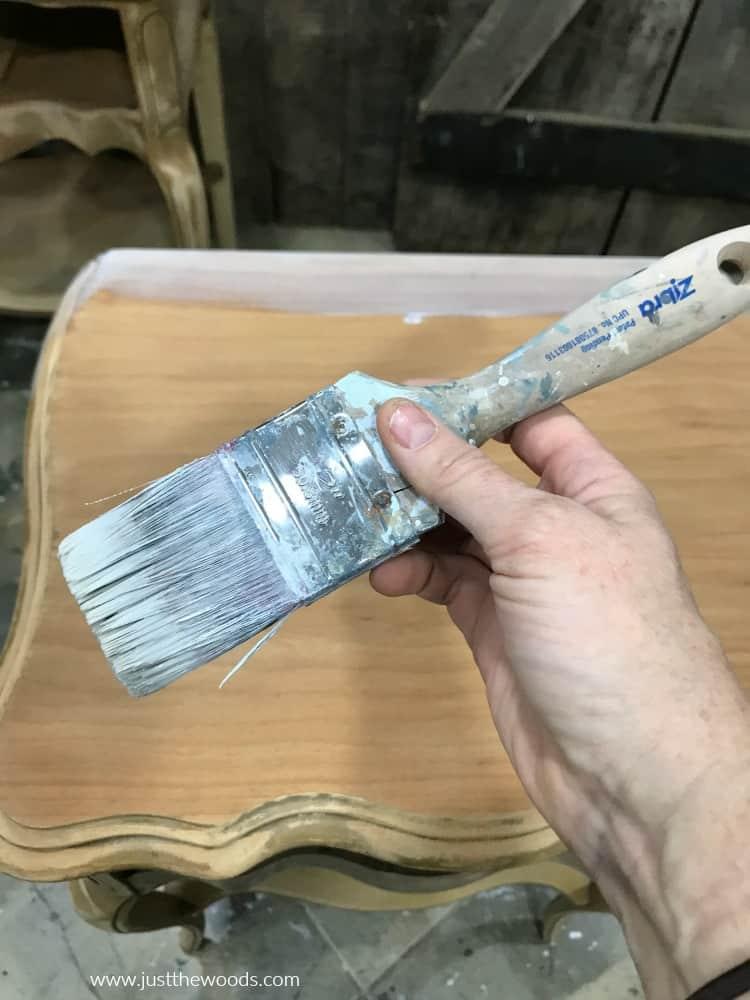 zebra paint brush, chalk paint brush
