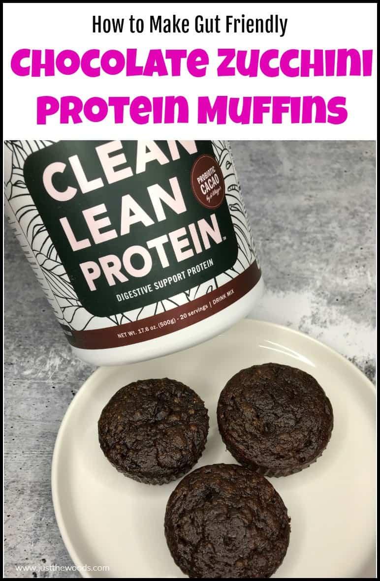 chocolate zucchini protein muffins