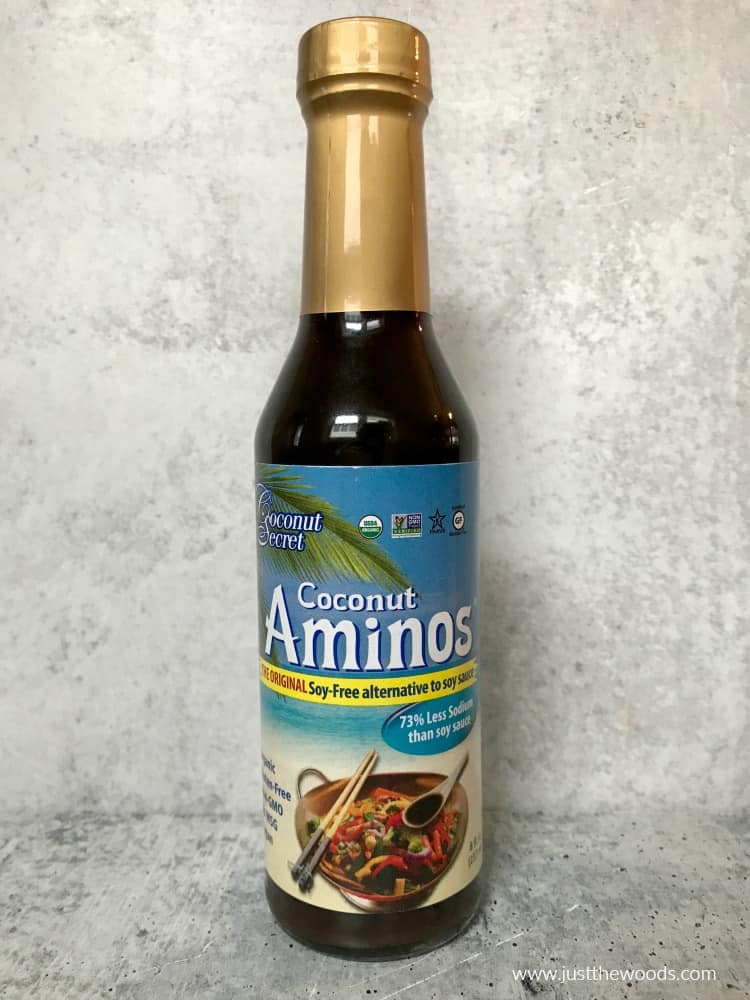 coconut aminos, soy sauce alternative