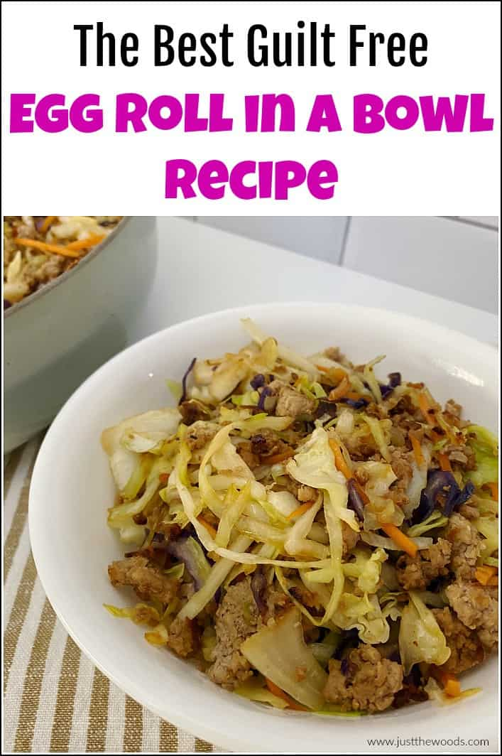 egg roll in a bowl recipe, egg roll in a bowl with turkey