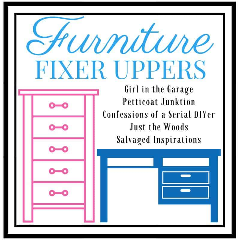 furniture fixer upper image with list of DIY bloggers