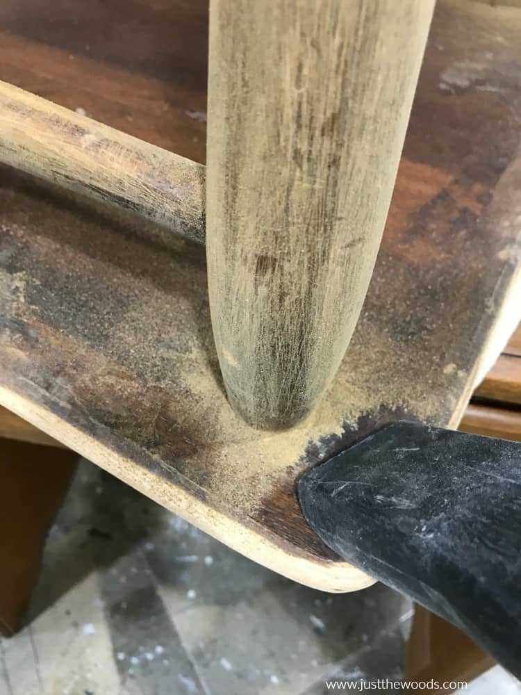 sanding furniture restoration
