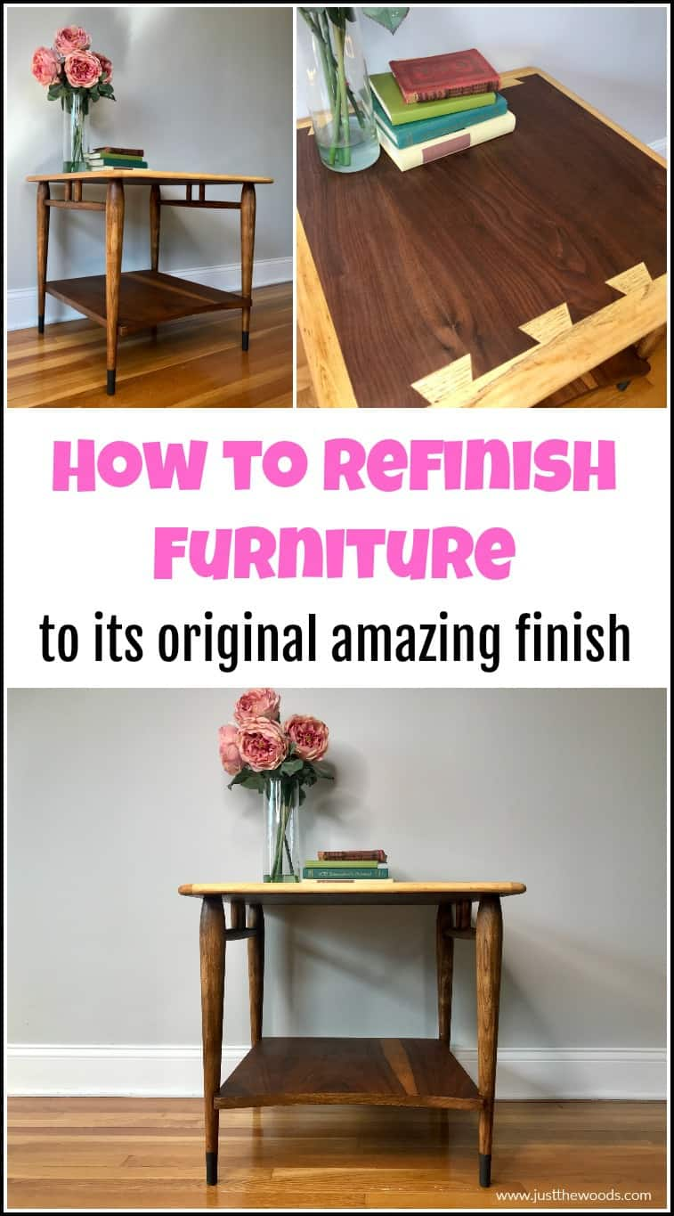 refinishing furniture tutorial